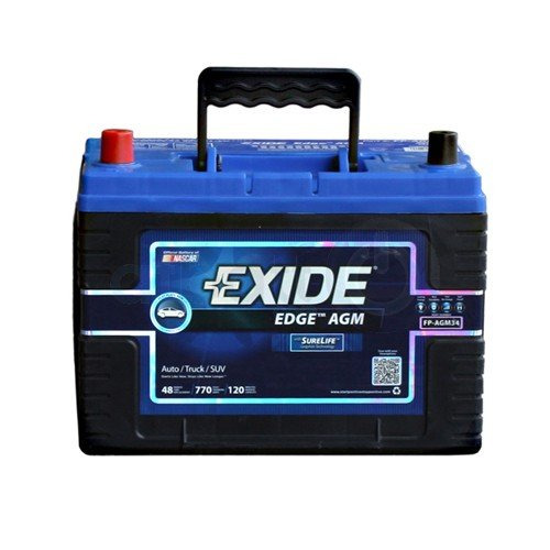 exide edge fp agm34 flat plate agm sealed automotive. Black Bedroom Furniture Sets. Home Design Ideas